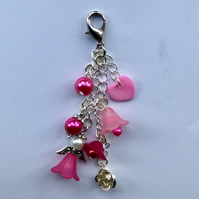 Beaded Angel Bagcharm Keyring