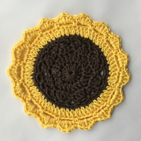 Crochet Sunflower Mandala Table Mat.