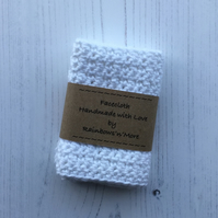 Crochet Facecloth in a White Soft Cotton Yarn