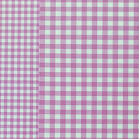 Pack of 8 Gingham Card in Purple