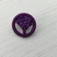Dorset Button Tree of Life in Purple