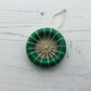 Dorset Button Christmas Tree Decoration in Green and Gold