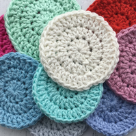 Crochet Reusable Cotton Makeup Remover Pads Facial Wipes Face Scrubbies x 10