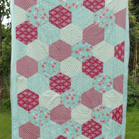 Cute and Girly Hexagon Quilt