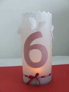 Hand crafted table numbers