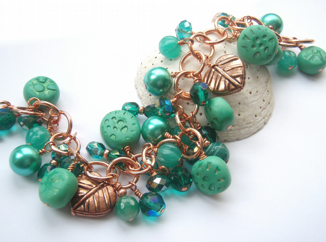 Green copper bracelet SALE 10.00
