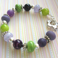 Purple and Green bracelet