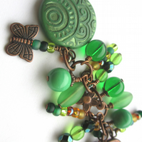 Woodland Green Bag Charm