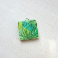 Square Green Grass Charm