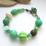 Green Dreams Bracelet SALE 12.00