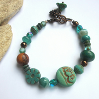 Green and Copper bracelet