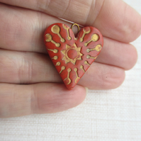 Terracotta Heart Pendant