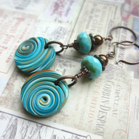 Turquoise String Earrings