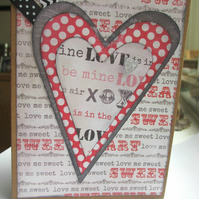 Heart Card - black and red SALE 2.00