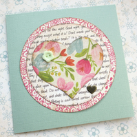 Hearts and Flowers Card SALE 2.00