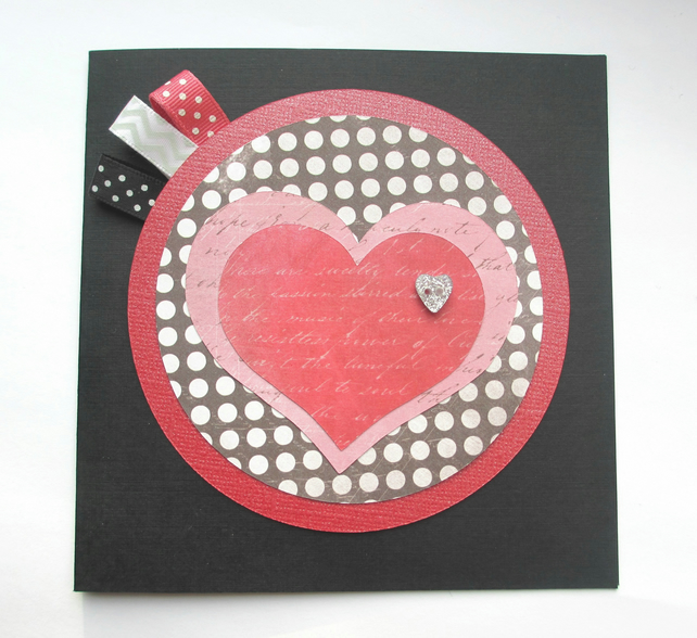 Heart Card - square SALE 2.00