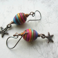 Multicoloured Starfish Earrings