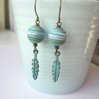 Sea and Sand Feather Earrings
