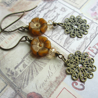Autumn Flower Earrings