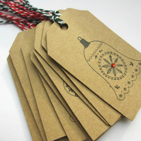 Christmas Tags Stamped Design