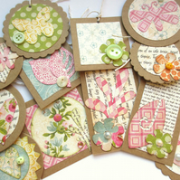 Gift Tags Mixed Floral Set