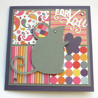 Mouse and Heart Card