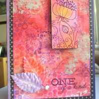 One of a Kind Card Mixed Media