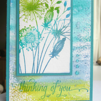 Inky Flowers Thinking of You Card