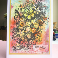 Get Well Soon Card - Flowers