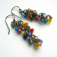 Cascade Earrings Matte Multicoloured