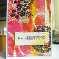 Life is Beautiful Card SALE 2.00