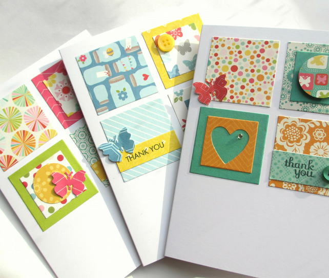Thank You Cards Set of Three SALE 3.50