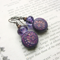 Love Purple Earrings