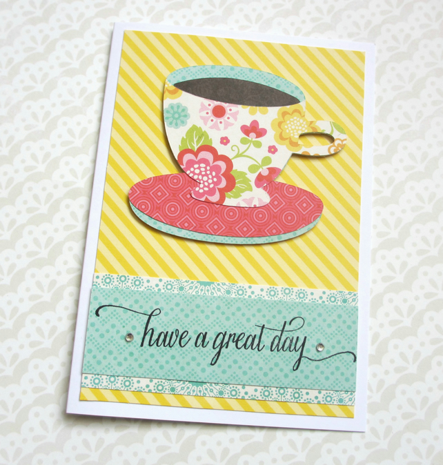 Tea Cup Greetings Card SALE 2.00
