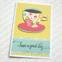 Tea Cup Greetings Card