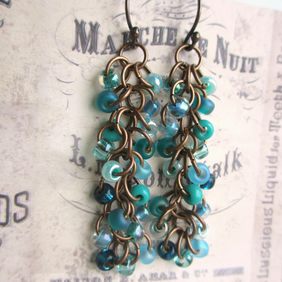 Cascade Earrings Lagoon