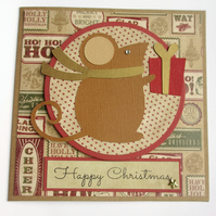 Christmas Card -  Brown Mouse