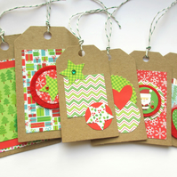 "Christmas Tags set of six ""Jolly"""