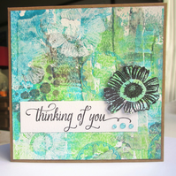 Thinking of You Card Flower
