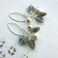 Winter Skies Cluster Earrings