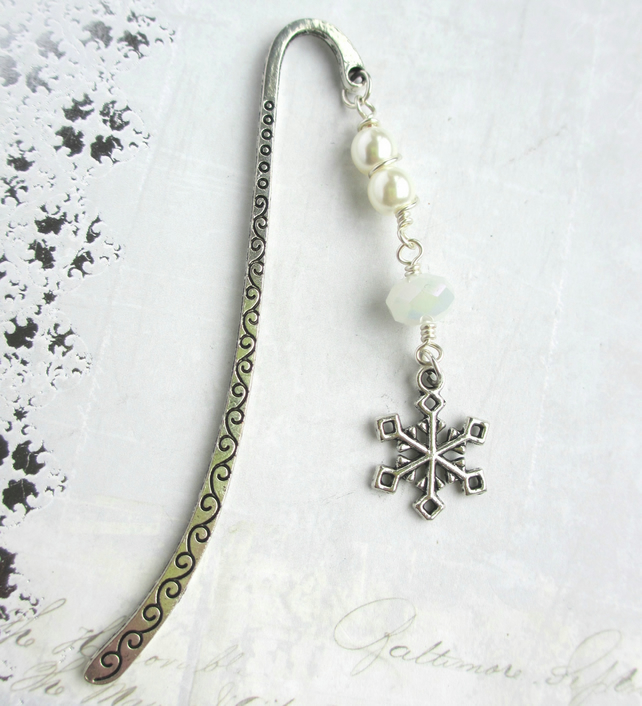 Bookmark - Winter White Snowflake
