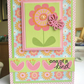 One of a Kind Flower and Butterfly Card