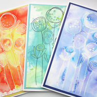 Set of 3 Cards - Blooms
