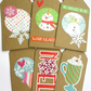 Christmas Gift Tags set of 6 Warm Hearts