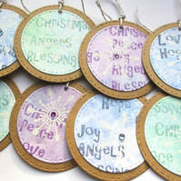 Christmas Gift Tags set of 8 Christmas Blessings