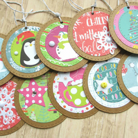 Christmas Gift Tags set of 10 Snowy Days