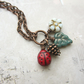 Ladybird and Pine Cone Cluster Necklace