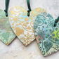 Christmas Tags, Decorations - Wooden Hearts Embossed