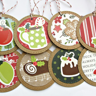 Christmas Gift Tags set of 8 Christmas Treats