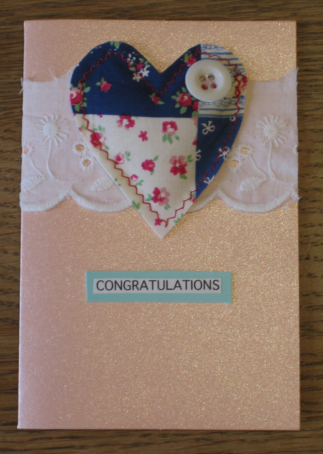 Handmade congratulations card with Heart